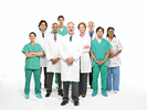 Doctors and staff standing with arms crossed