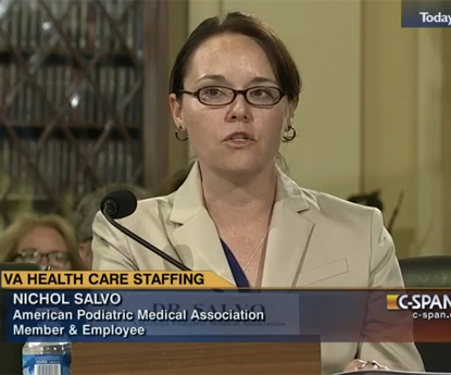 Dr. Nichol Salvo Testifies Before House VA Subcomm