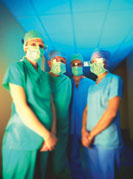Surgeons wearing masks