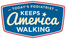 Today's Podiatrist Keeps American Walking logo