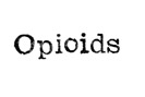 opioids typewriter text